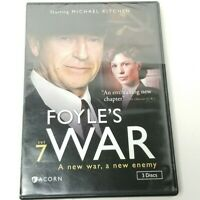 Foyle's War: Set 7 DVD (2013, 3-disc set) NEW SEALED FREE SHIP Acorn Media