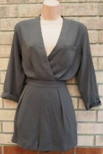 TOPSHOP KHAKI GREEN V NECK ONE POCKET 3/4 SLEEVE MILITARY PLAYSUIT ALL IN ONE 10