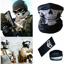 Motorcycle Skull skeleton Neck Warmer Face Mask Snood bandana face Biker Scarf