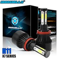 4 Sides H11 LED Headlight Conversion Kit Lamp 360000LM Hi-Low Beam Bulbs 6000K
