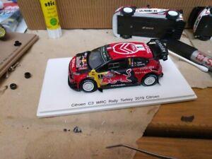 SPARK - 1:43 Citroen C3 wrc S. OGIER WINNER rally Turkey 2019 - RARE!