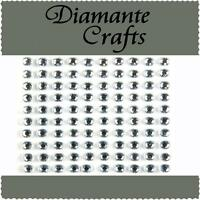 100 x 5mm Clear Diamante Self Adhesive Rhinestone Body  Vajazzle Gems