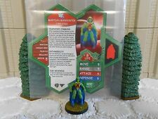 Heroscape Custom Martian Manhunter Double Sided Card & Figure w/ Sleeve DC