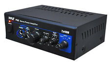 Pyle PTA2 Mini 2x40W Stereo Mixer/Power Amplifier