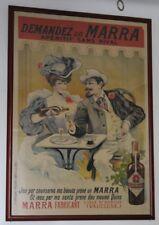 """""""APERITIF MARRA"""" Affiche originale encollée sur bois et encadrée Litho TAMAGNO"""