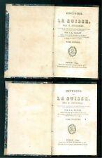 ZSCHOKKE H. HISTOIRE DE LA SUISSE FRERES REYCEND 1829 4 VOLUMI SVIZZERA