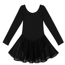 Girls Gymnastics Leotard Ballet Dress Toddler Dance Tutu Skirt Dancewear Costume