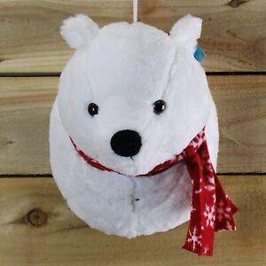 🔥Christmas Plush Singing Polar Bear Head Wall Hanging Ornament Office Home Fun