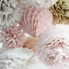 Wedding decorations 25 tissue paper pompoms set - mixed sizes-your colors- poms