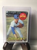 1969 Topps Baseball Don Sutton Los Angeles Dodgers Card No. 216 Vintage