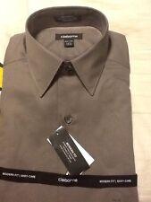 NWT Concepts By (Liz) Claiborne Dress Shirt Mushroom Size 14 1/2 34-35 $50 NEW