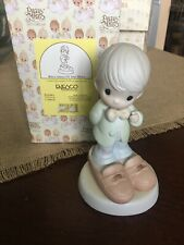 """New ListingPrecious Moments Figurines """" Who's Going To Fill Your Shoes� No Chips Or Damage"""