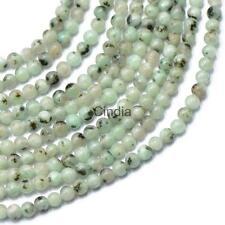 Gemstone Beads Necklace Round Gemstones Jewelry White & Gray 4mm loose Beads