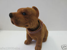 Pit Bull Dog  / Brown Bobbing Head Dog /  Bobble Head Toy