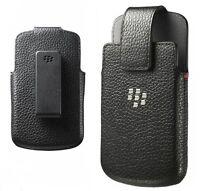 Genuine Leather Case Swivel Holster Clip Cover for BlackBerry Q10 - NEW