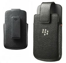 Genuine Leather Case Swivel Holster Clip Cover for BlackBerry Q10 - NEW