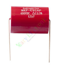 5pc MKP 400V 6.8uf Red long copper leads Axial Electrolytic Capacitor audio amp