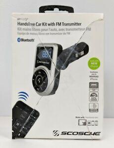 Scosche BTFREQ Handsfree Car Kit FM Transmitter BTFM3SR-SP Bluetooth w/ Remote