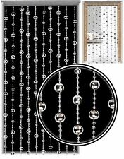 Stylish Beaded Door Curtain Disco Ball Strings Blind Screen Room Divider Silver