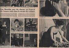 Coupure de presse Clipping 1954 Lise Bourdin  (2 pages)