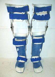 CASCADE Metal Fiberglass Left & Right KAFO Braces Polio knee Ankle Foot Orthosis