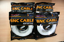 New 4 High Quality 60FT BNC Extension CCTV Cable for Samsung,Kguard,Swann,Lorex