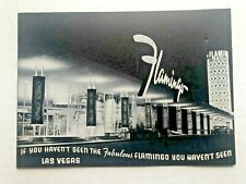 1959 Flamingo Hotel Las Vegas Souvenir Photo Holder with Original Picture