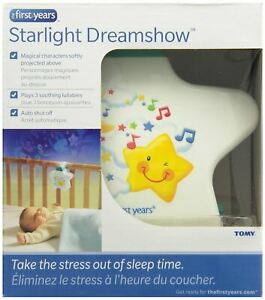 Tomy Starlight Dreamshow Baby Night Light White Ceiling Projector Lullaby