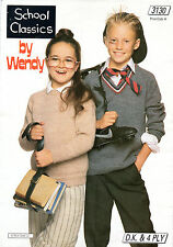 ~ Wendy Knitting Pattern For Children's Sweaters & Cardigans ~