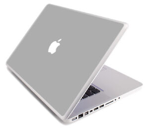 SILVER GRAY Vinyl Lid Skin Cover Decal fits Apple MacBook Pro 15 A1268 Laptop
