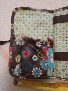 Thirty One Quilted Brown Poppy ~Zip~ Soft Wallet!