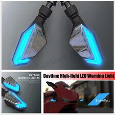 2x Motorcycle Turn Signal LED Light Universal Daytime Running Warning Cafe Racer