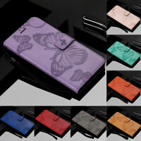 For OnePlus Nord N10 5G / N100 Embossed Butterfly Flip Leather Wallet Case Cover