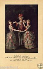 Gräfin von Hoyen Graf von Loos Kunstdruck 1914 Anton Graff * Winterthur Barock +