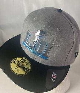 Super Bowl LII 52 Hat Cap NEW 59FIFTY Philadelphia New England Sz 7 1/4 NFL Logo