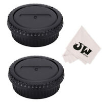 JJC 2-Pack Body Cap & Rear Lens Cap for Canon EF EF-S EOS SLR DSLR Cameras/Lens