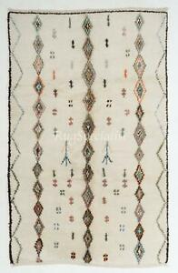 Contemporary Moroccan Beni Ourain Wool Rug with Diamond Pattern