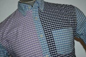 23459-a Boys Brooks Brothers Button Up Dress Shirt Size Medium Multicolored