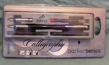 New old stock - ParkerSeries Calligraphy Fountain Pen with 2 nibs & 3 ink cart.