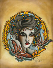 Black Market Art Company BUTTERFLY LADY CANVAS GICLEE PRINTS MADE IN USA