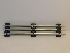 "Lionel O Gauge 10"" Straight Track Section Tubular Steel 6-65500 Three Rail"