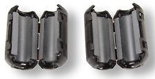 2x pieghevole ferrite FILTRO Cappotto elettricità nucleo ferrite entstörung per cavi fino a 8mm