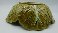 Vintage Bordallo Pinheiro of Portugal Green Cabbage Salad Bowl