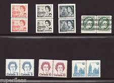 Canada MNH Coil stamps 345xx 468A 468B 550 604 605 729