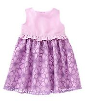 NWT Gymboree Special Occasion Girls 5T Violet Purple Flowered Lined Dress NEW