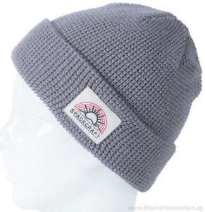 Spacecraft Index Beanie Unisex Reversible Knit Watch Cap One Size Grey BRAND NEW