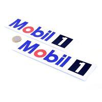 Mobil 1 Oil Stickers Classic Car Motorbike Racing Vinyl Decals 200mm x2