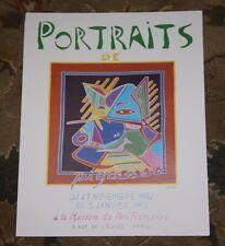 Portraits de Pigasso Funny Detlev 1992 Paris Gallery Poster Picasso Pork Pig Art