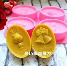 Christmas Deer Bell Soap Mold Cake Mold Silicone Mould For Candy Chocolate