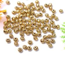 50Pcs Tibetan Silver Charms Spacer Beads Jewelry Findings Making DIY 5MM BE276